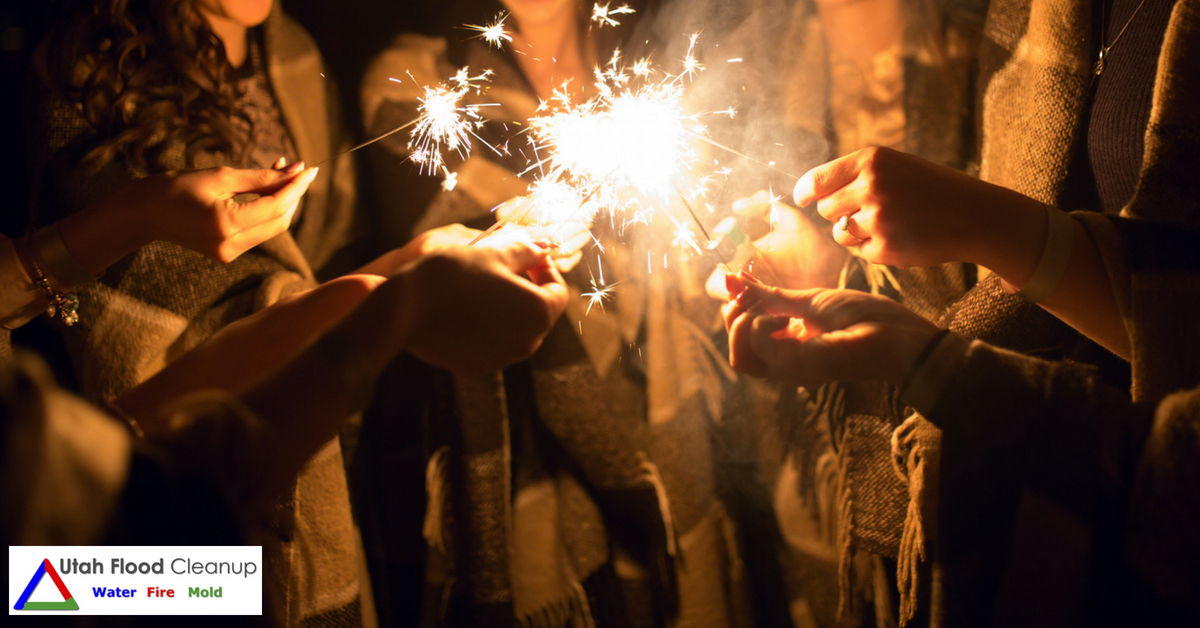Fireworks with friends - Fire Damage Cleanup and Repair Services in Utah