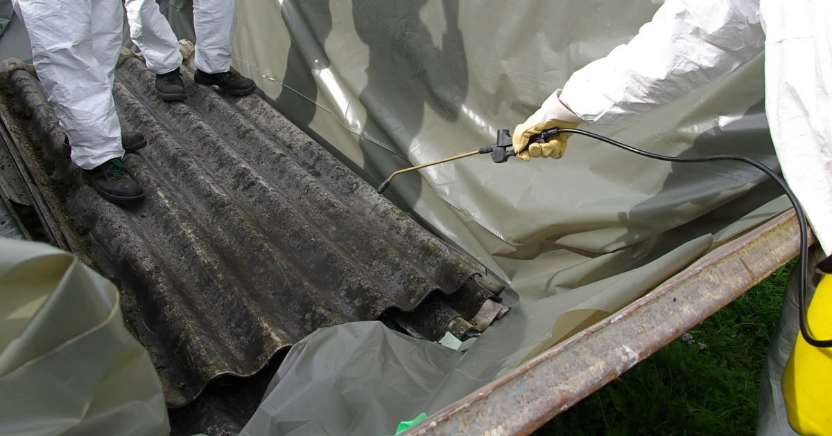 Asbestos Removal in progress - asbestos abatement utah