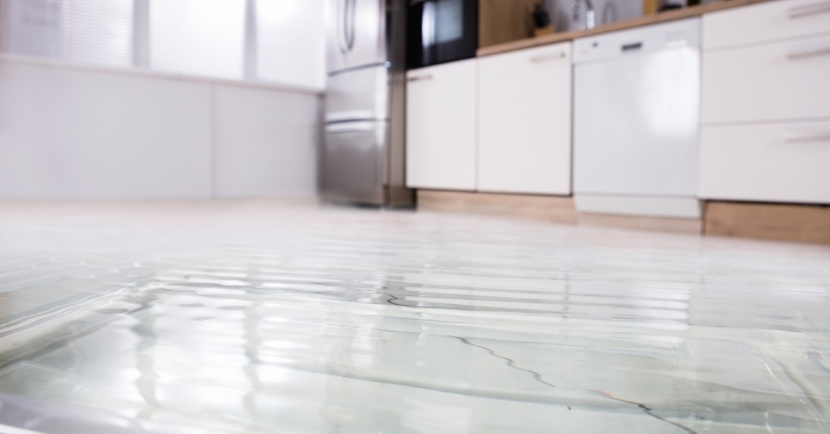 Water Flooded in the Laundry Room