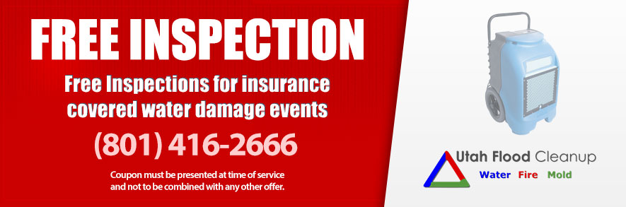 Free inspections for insurance covered water damage events - Utah Flood Cleanup