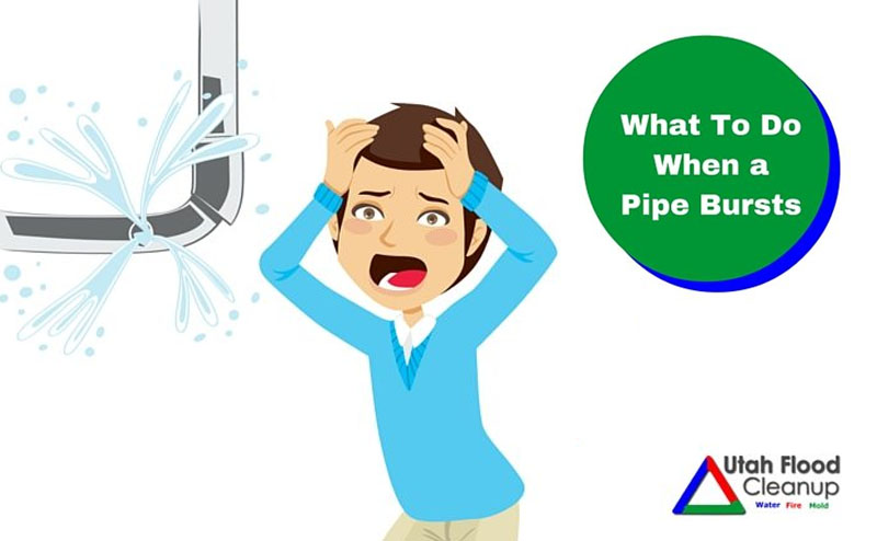 What to do when a pipe bursts - Utah disaster cleanup specialists