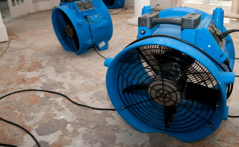 Drying a flooded floor - Flooded Basement Cleanup Service